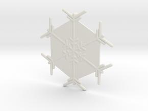 Snowflakes Series II: No. 5 in White Natural Versatile Plastic