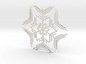 Snowflakes Series II: No. 7 in White Natural Versatile Plastic