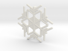 Snowflakes Series II: No. 9 in White Natural Versatile Plastic