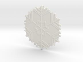 Snowflakes Series II: No. 11 in White Natural Versatile Plastic