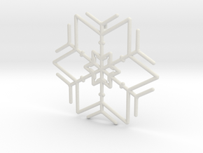 Snowflakes Series I: No. 3 in White Natural Versatile Plastic