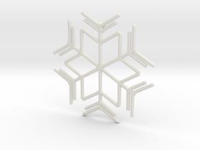 Snowflakes Series I: No. 8 in White Natural Versatile Plastic