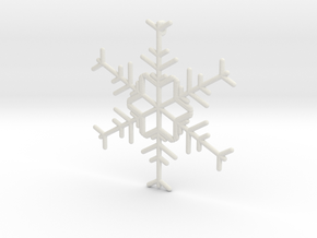 Snowflakes Series I: No. 12 in White Natural Versatile Plastic