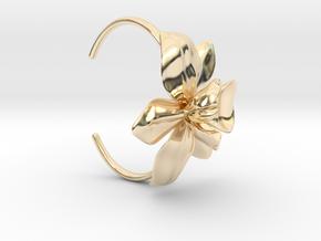 Orchid Bracelet- Metal Version in 14k Gold Plated Brass