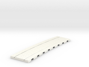 P-165stw-curved-610r-tram-track-12d-75-w-1a in White Processed Versatile Plastic