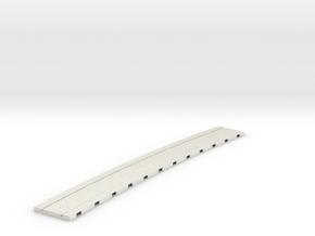 P-165stw-curved-1219r-tram-track-12d-75-w-1a in White Natural Versatile Plastic