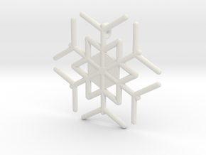 Snowflakes Series III: No. 10 in White Natural Versatile Plastic