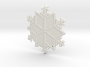 Snowflakes Series III: No. 15 in White Natural Versatile Plastic