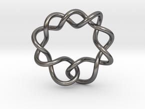 0366 Hyperbolic Knot K6.1 in Polished Nickel Steel