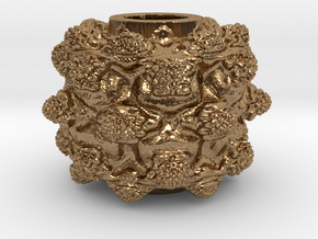 MandelBulb Power8 OM Particle in Natural Brass