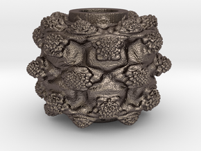 MandelBulb Power8 OM Particle in Polished Bronzed Silver Steel