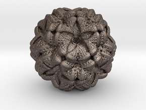 MandelBulb Study2 in Polished Bronzed Silver Steel
