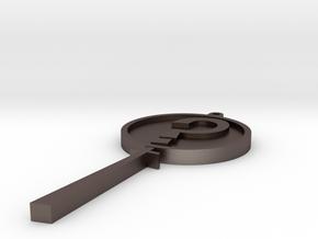 MysteryInc Pendant 3in in Polished Bronzed Silver Steel