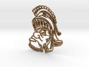 Sparty Pendant  in Natural Brass