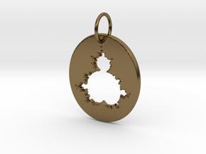 Mandelbrot Pendant in Polished Bronze