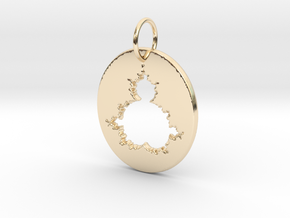 Mandelbrot Pendant in 14k Gold Plated Brass