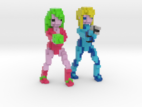 Samus Aran - Justin Bailey & Zero Suit (Set) in Full Color Sandstone