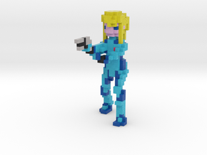 Zero Suit Samus Aran in Full Color Sandstone