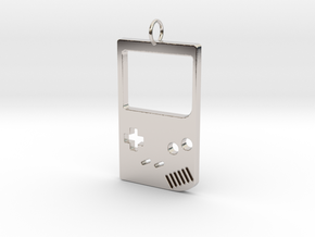 Gameboy in Rhodium Plated Brass