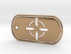 Battelfield 4 Ultimate Recon Dog Tag in Polished Brass