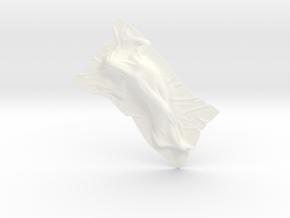 Shroud shape penholder 009 in White Processed Versatile Plastic