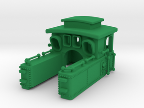 Steam Locomotive T3 Scale N Part 001 in Green Processed Versatile Plastic