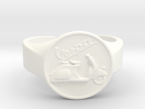 Vespa Ring in White Processed Versatile Plastic