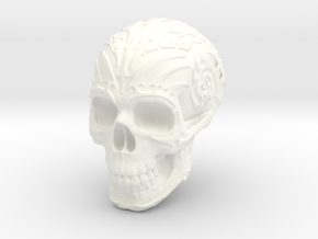 Skull mechanical in White Processed Versatile Plastic