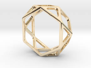 Structural Ring size 10 (multiple sizes) in 14K Yellow Gold