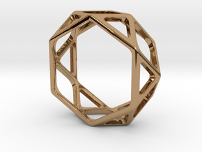 Structural Ring size 10 (multiple sizes) in Polished Brass