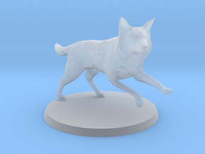 30mm Scale Running Dog Border Collie, Wolf in Smooth Fine Detail Plastic
