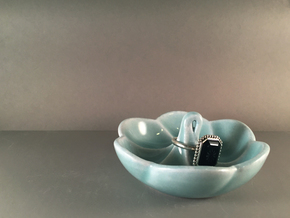 Meringue Ring Dish in Gloss Celadon Green Porcelain
