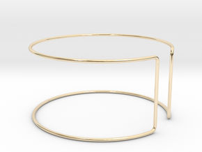 Line Bangle in 14K Yellow Gold