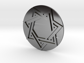 Septagram Pendant in Fine Detail Polished Silver