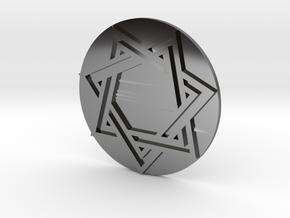 Septagram Pendant in Fine Detail Polished Silver