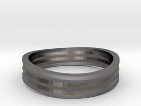 Ring of awesome in Polished Nickel Steel