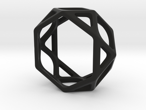 Structural Ring size 5,5 in Black Natural Versatile Plastic