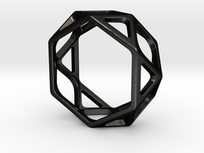 Structural Ring size 8 in Matte Black Steel