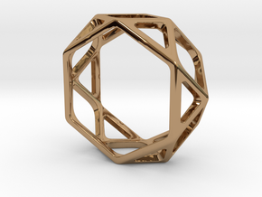 Structural Ring size 9 in Polished Brass