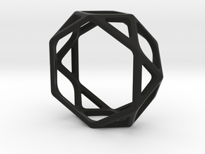 Structural Ring size 9 in Black Natural Versatile Plastic