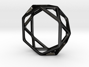 Structural Ring size 12 in Matte Black Steel