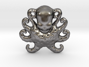 Octopus Pendant in Polished Nickel Steel