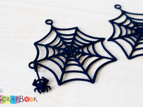 Swinging Spider Web Earrings in Black Natural Versatile Plastic