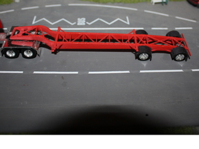 000051 USA Tank Container Trailer HO in White Processed Versatile Plastic