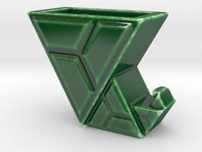 Elfenstiefel-Vase II in Gloss Oribe Green Porcelain