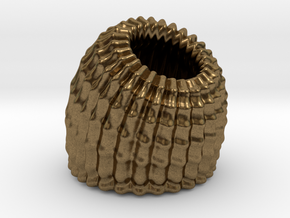 Brain Coral Jewellery Container in Natural Bronze