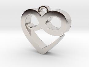 Infini Heart Necklace in Platinum