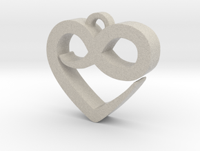 Infini Heart Necklace in Natural Sandstone