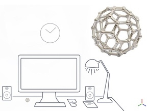 Buckyball - DeskToys in Platinum