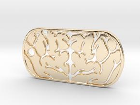 Premium Brain Matter Dog Tag in 14k Gold Plated Brass